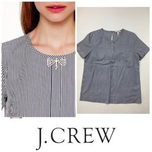 J. Crew Bow Jewel Crystal Top